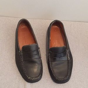 Dooney & Bourke Black Leather Loafers Shoes 36